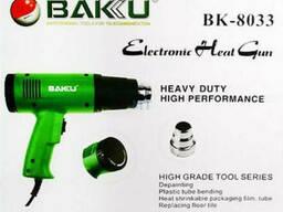 Фен Bakku BK-8033 (пистолет) 1600Вт, зелений Box (252*233*80) 0,72 кг