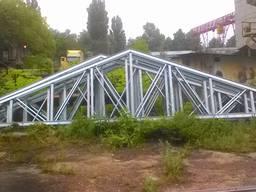 Ферма двухскатная металлическая длина 14 м.