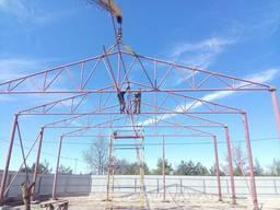 Ферма двускатная 16м. металлическая