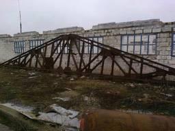 Фермы металлические 18 м, двускатные