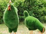 Фигуры топиари, скульптуры из искусственной травы, газон - фото 4