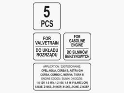 Фіксатори газорозподільної системи двигунів авто OPEL групи YATO 5 шт