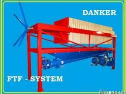 Фильтр-пресс напорно-вакуумный рамочный. FTF-system