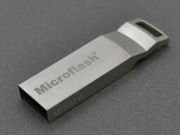 Флэш-накопитель Microflash UA113, USB 2.0, 64GB, Metal Design, BOX