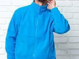 Куртка флисовая голубая мужская