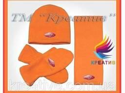 Флисовые наборы: шарф, шапка, рукавицы с логотипом (от 50 шт