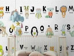 Фотообои детские с рельефом Азбука Funky ABC Алфавит 150 см х 100 см