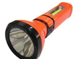 Ліхтар LED с АКБ в комп. 3-5W помаранч. 3реж, 2 лампи. ..