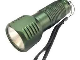 Ліхтарик LED метал. Milliitary COB 5W АКБ 3*AAА+ремешок. ..