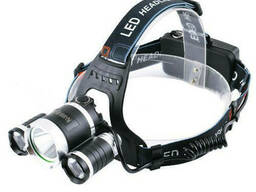 Фонарь налобный фонарик 3 Led RJ 3000 T6