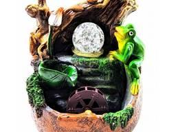 Фонтан декоративный настольный Лягушка 19 см.