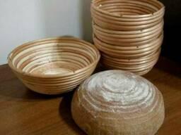 Форма для расстойки хлеба из лозы круглая на 0,8 кг