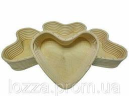 Форма для расстойки хлеба в форме сердца, (19*13*6, 5) с чехлом из льна