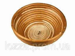 Форма для расстойки из лозы для хлеба круг (диаметр 24 см) Расстоечная корзинка для теста