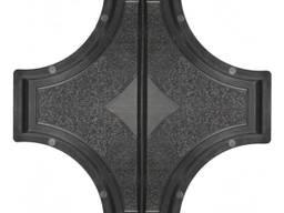 Форма для тротуарной плитки РОНДО крест большой половинки 2×325×160×45 Украина 1 шт