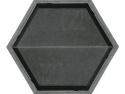 Форма для тротуарной плитки Шестигранник (половинка продольная) 2×205×88×45 Украина 1 шт