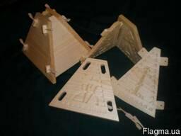 Форма для творожной пасхи (из липы),пасочница из дерева 1,6л