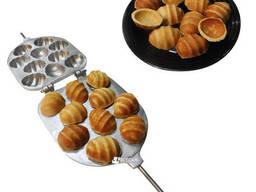 Форма для выпечки песочного печенья 10 огромных орешков с рифленой поверхностью