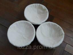 Форма корзинка для расстойки хлеба, из ротанга на 1кг круг, с чехлом