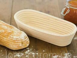 Форма корзинка для расстойки хлеба, теста из ротанга на 1 кг овальная