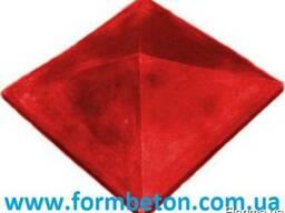 Форма крышки колпак четырехскатный гладкий 3 - фото 2