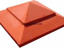 Форма крышки столба Пирамида 1