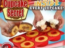 Форма для выпечки кексов силиконовая Cupcake Secret