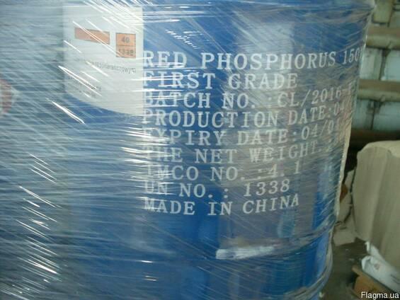 Фосфор красный, фасовка от 5кг розница, от 50кг опт. , Китай