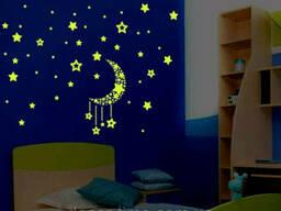 Фосфорные звезды на потолок , стену в детскую, звездное. ..