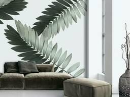 Рельефные фотообои дизайнерские для стен листья пальмы Замия Palm Zamia Furfuracea. ..