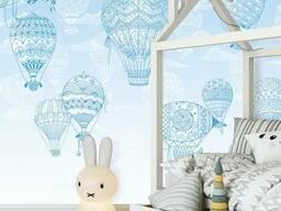 Детские 3D фото обои с рельефом Воздушные шары Ballons. ..