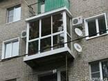 Французкие балконы, рамы, окна, двери ПВХ бел.и цвет.профиля - фото 3