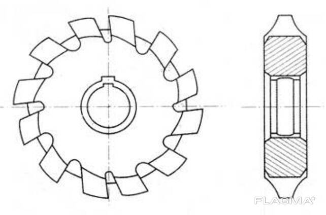 Фреза дисковая модульная М 8
