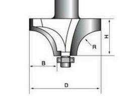 Фреза Глобус 1019 D19 d8 h9 R4 кромочная калевочная