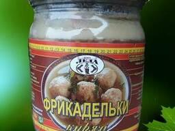 Продам фрикадельки консервированные куриные 0, 5л
