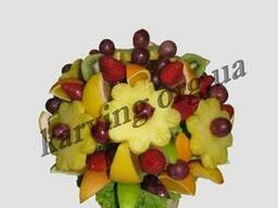 Фруктовый букет, Букет из фруктов и овощей, Съедобные букеты - фото 3
