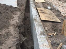 Фундамент бетонные земляные работы копка траншеи ямы рытье