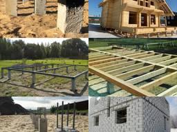 Фундамент для загородного дома и бани на жб сваях под ключ
