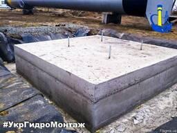 Чертеж фундамента под водонапорную башню ВБР в Украине