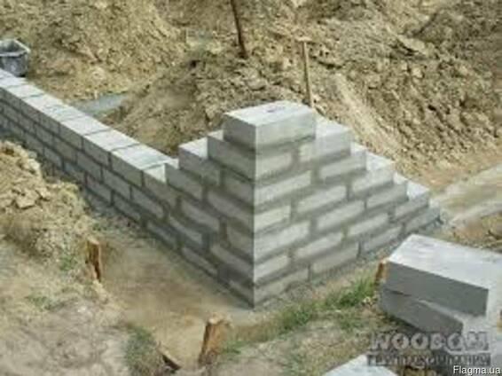 Фундаментные блоки ФБС Обухов. От производителя. Украинка