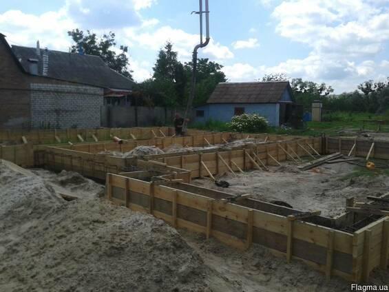 Фундаментные работы, бетонирование