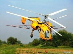 Фунгіцидний захист соняшнику вертольотами