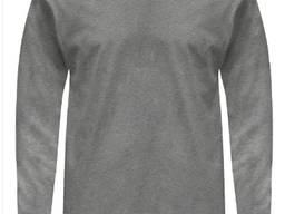 Футболка чоловіча з довгими рукавами, щільність 155 г/м2 100% бавовна, колір сірий