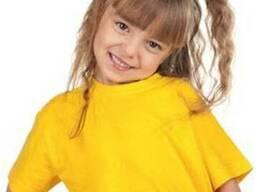 Футболка детская желтого цвета