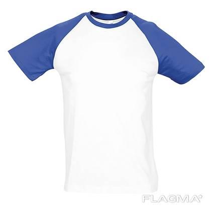 Футболка двухцветная, модельная футболка