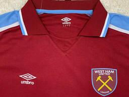 Футболка Вест Хэм (West Ham), домашняя/вишневая сезон 21/22
