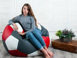 Футбольне крісло мішок м'яч червоний/сірий/білий