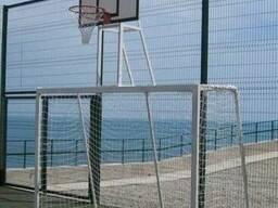 Футбольные ворота с баскетбольным щитом 1800х1050мм с фанеры