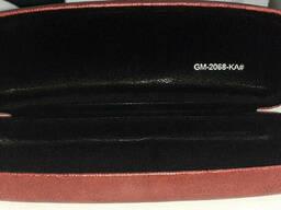 Футляр для  очков GM-2068-KA# из пресс кожи, красный