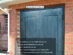Гаражные металлические ворота распашные
